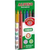 Carioca lavabila, 6 culori/cutie, ALPINO Standard