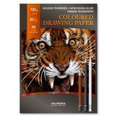Bloc desen A4, 20 file - 120g/mp, AURORA Raphael - hartie 10 culori asortate