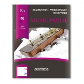 Caiet muzica, A5, 20 file - 80g/mp, AURORA Raphael - dictando/7 portative