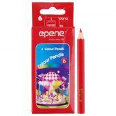 Creioane colorate, 1/2, corp hexagonal, 6 culori/cutie, EPENE