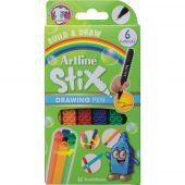 Liner ARTLINE Stix, varf fetru 0.5mm, 6 buc/cutie