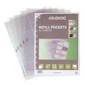 Rezerve folii A4, pentru 16 carti de vizita, 10 buc/set, AURORA Adoc