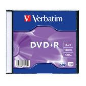 DVD+R , 4.7GB, 16X, carcasa slim, VERBATIM Matt Silver
