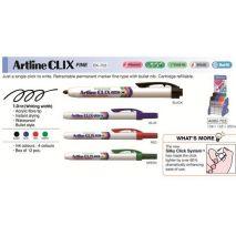 Permanent marker ARTLINE Clix 703, corp plastic, mecanism retractabil, varf rotund