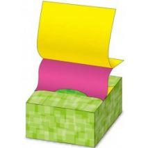 """Notes autoadeziv 76 x 76 mm, 200 file, Stick""""n Pop-up (in cutie) - galben/magenta"""
