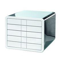 Suport plastic cu 5 sertare pentru documente, HAN iBox