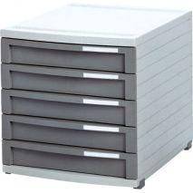 Suport plastic modular cu 5 sertare pentru documente, HAN Contur