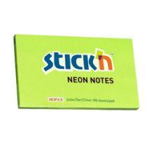 Notes autoadeziv, 76 x 127mm, 100 file/set, culori neon, HOPAX