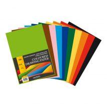 Carton color A4, 120g/mp - 100 coli/top, AURORA Raphael - 10 culori intense