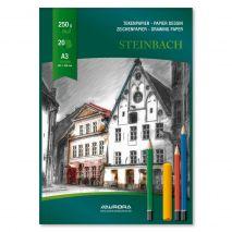 Bloc desen A3, 20 file - 250g/mp, AURORA Steinbach - carton alb