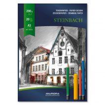 Bloc desen A3, 20 file - 200g/mp, AURORA Steinbach - carton alb