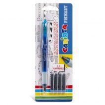 Roller cu cartus cerneala, + 4 rezerve/blister, CARIOCA Primary