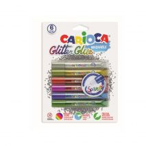 Lipici Glitter 6 culori/blister, CARIOCA Multicolours