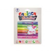Vopsea textile 6 culori/blister, CARIOCA Fabric Paint - Neon