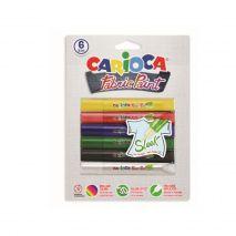 opsea textile 6 culori/blister, CARIOCA Fabric Paint - Sleek