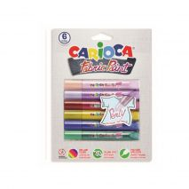 Vopsea textile 6 culori/blister, CARIOCA Fabric Paint - Pearly