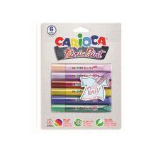 Vopsea textile 6 culori/blister, CARIOCA Fabric Paint - Pearly