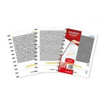 Caiet A4, 72 file - 90g/mp, coperta carton embosat + PP - labyrinth, AURORA Adoc Crea - matematica