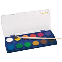 Acuarele cu pensula, 12 culori/set, MOLIN