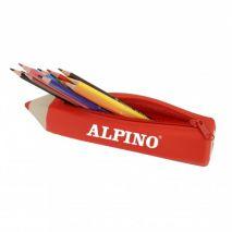 Penar cilindric cu fermoar, tip creion, ALPINO
