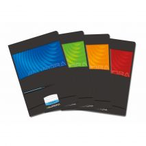 Caiet A4, 60 file - 90g/mp, liniat stanga, coperta carton lucios, AURORA Mano - matematica