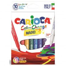 Carioca lavabila, varf gros 6mm, 9 culori+1 magic marker/cutie, CARIOCA Color Change