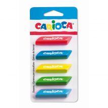 Radiere triunghiulare colorate, 5 buc/blister, CARIOCA
