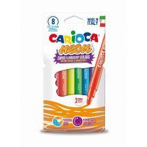Carioca super lavabila, fluorescenta, 8 buc/cutie, CARIOCA Neon