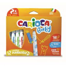 Carioca super lavabila, 12 culori/cutie, CARIOCA Baby 2+