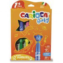 Carioca super lavabila, 12 culori/cutie, CARIOCA Baby Teddy 1+