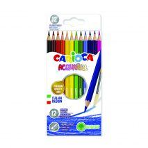 Creioane colorate, hexagonale, 12 culori/cutie, CARIOCA Acquarell