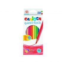 Creioane colorate, hexagonale, 12 culori/cutie, CARIOCA