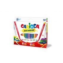 Carioca lavabila, varf gros 6mm, 9+9+2/cutie, CARIOCA Magic Markers