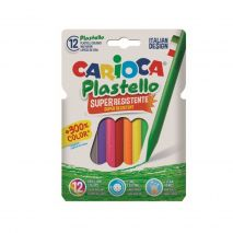 Creioane cerate rotunde, super rezistente, lavabile, 12 culori/cutie, CARIOCA Pastello