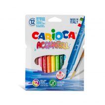 Carioca lavabila, tip pensula, 12 culori/cutie, CARIOCA Acquarell
