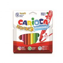 Carioca lavabila, varf gros 6mm, 12 culori/cutie, CARIOCA Bravo