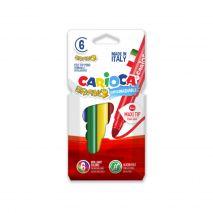 Carioca lavabila, varf gros 6mm, 6 culori/cutie, CARIOCA Bravo