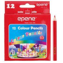 Creioane colorate, 1/2, corp hexagonal, 12 culori/cutie, EPENE