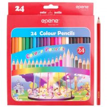 Creioane colorate, corp hexagonal, 24 culori/cutie, EPENE