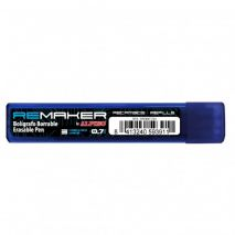 Rezerve pix erasable ReMaker Soft 0.7mm, 3 buc/set - albastre