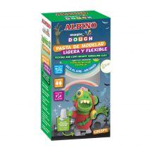 Kit 6 culori plastilina magica, ALPINO Creepy