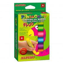 Creioane Tempera fluorescente, 6 culori/cutie, ALPINO PintaColor