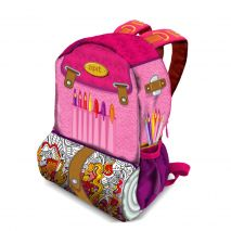 Rucsac ZIP..IT Adventure Painter, cu buzunare laterale - EAN 7290106148499