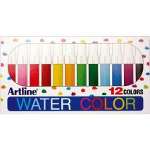 Watercolor marker ARTLINE 300, corp plastic, varf rotund 2.0mm, 12 culori/set - asortate