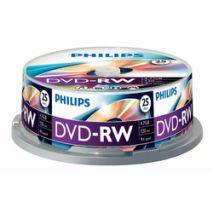 DVD-RW , 4.7GB, 4X, 25 buc/bulk, PHILIPS