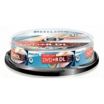 DVD+R , 8.5GB, 8X, 10 buc/bulk, PHILIPS Dual Layer