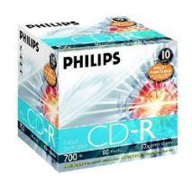 CD-R , 700MB, 52X, carcasa jewel, PHILIPS