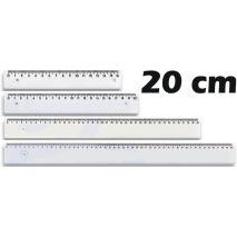 Rigla din plastic, 20 cm