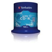 CD-R , 700MB, 52X, 100 buc/bulk, VERBATIM AZO Crystal