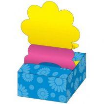Notes autoadeziv in forma de floare, 200 file/set, galben neon/roz neon , STICK'N Pop-Up